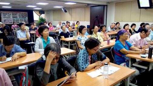 全場聽眾專心聽講/照片由記者沈昀蒨拍攝