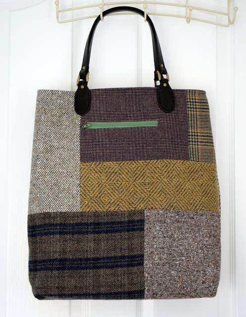 Tweed Applique Bag