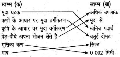 UP Board Solutions for Class 6 Agricultural Science Chapter 1 मृदा