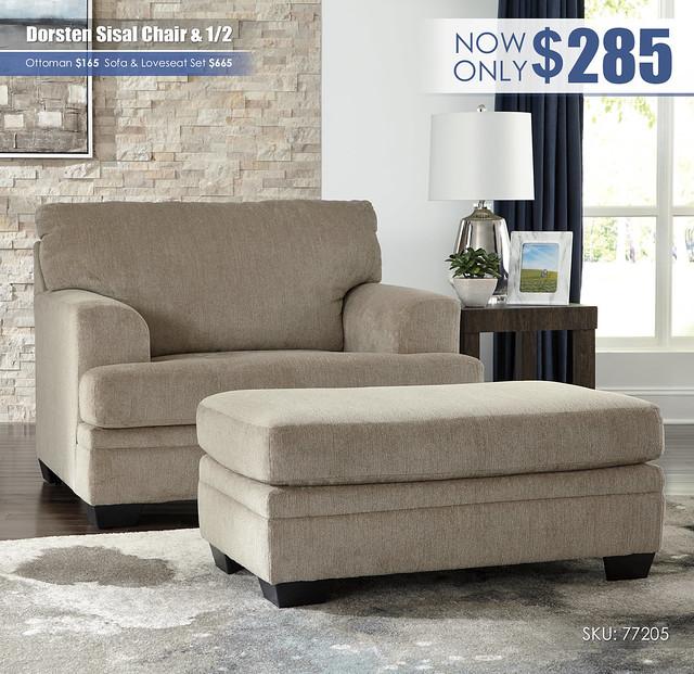 Dorsten Sisal Chair & Half_77205-23-14
