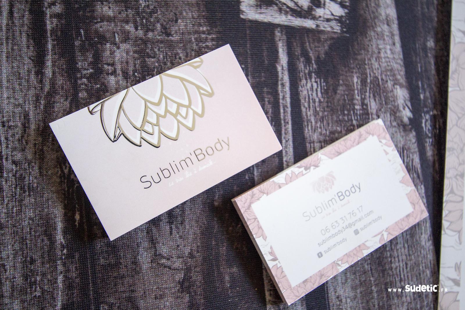Sudetic cartes de visite et depliant Sublim Body-6