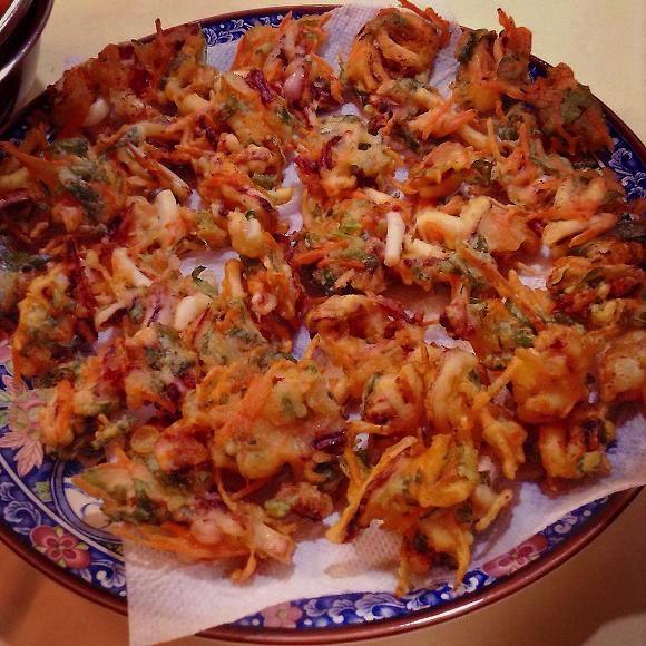 집에서 만들어 먹은 남도분식 상추튀김 2