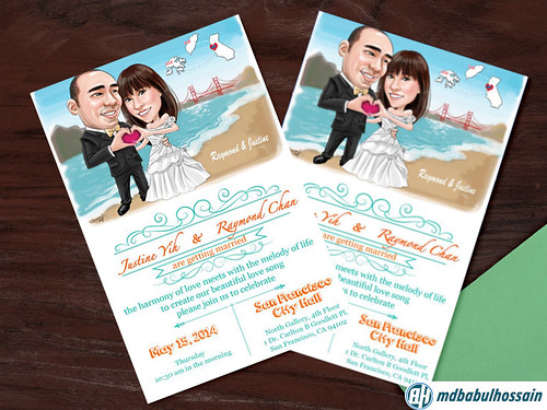 wedding-invitation-desing-cartoon-theme