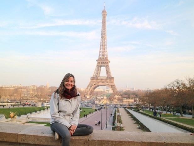 Mirador hacia la torre Eiffel