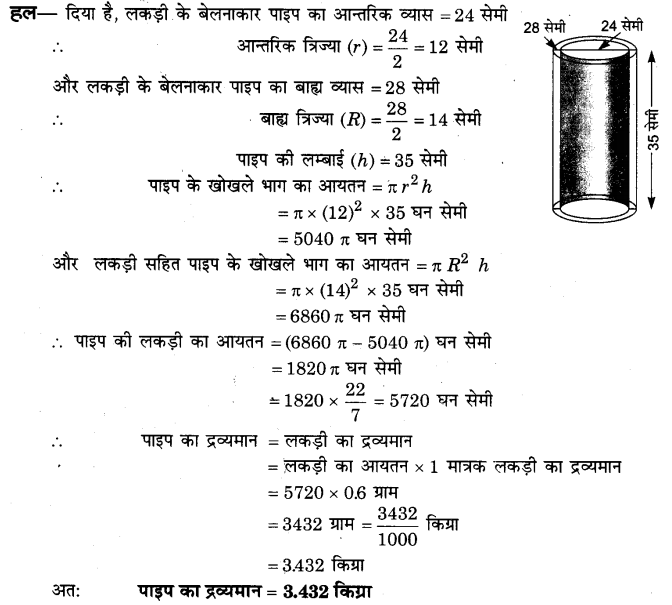 NCERT Solutions for Class 9 Maths Chapter 13 Surface Areas and Volumes (Hindi Medium) 13.6 2
