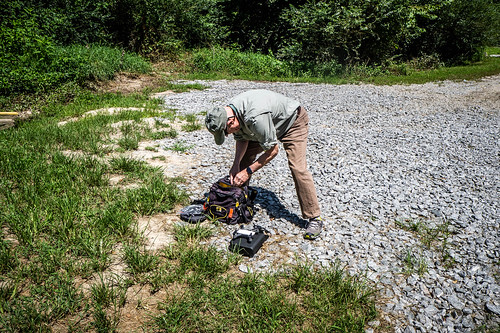 Jim Leavell with Drone at French Broad River