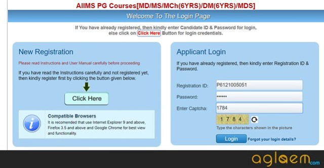 AIIMS PG 2019 Application Form   Apply Here for PAAR and Final Registration