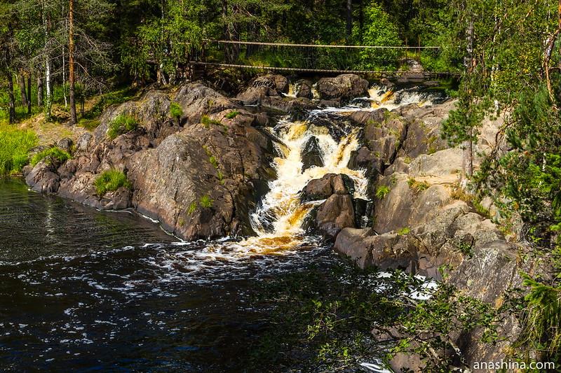 Водопад Ахвенкоски, Рускеальские водопады