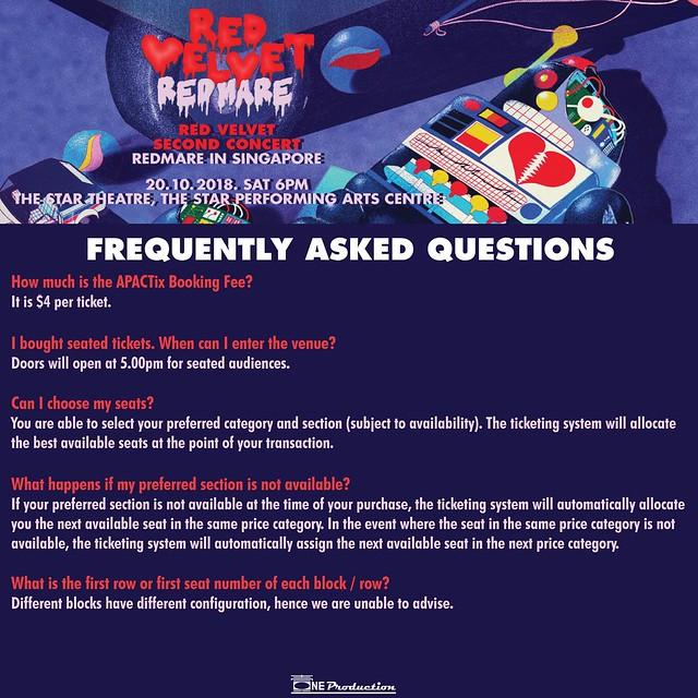 Red Velvet 'REDMARE' Concert in Singapore FAQ05