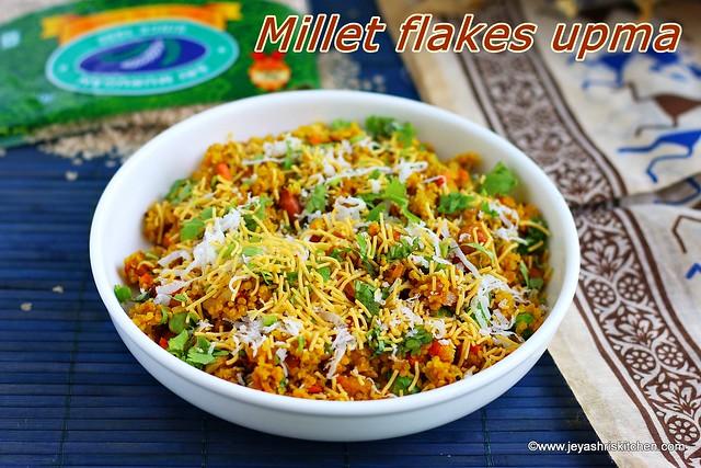 Millet flakes upma