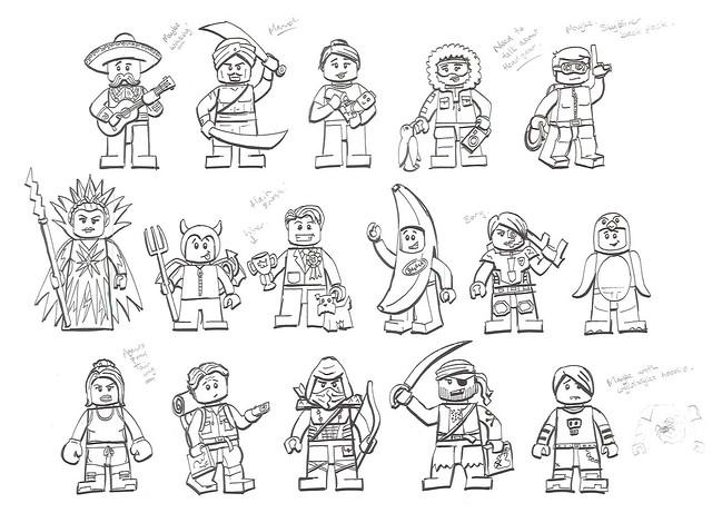 LEGO Collectible Minifigures design