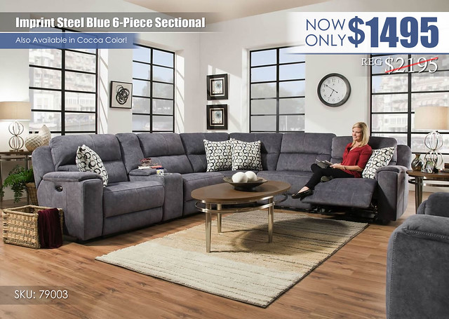 Imprint Steel Blue Sectional_79003