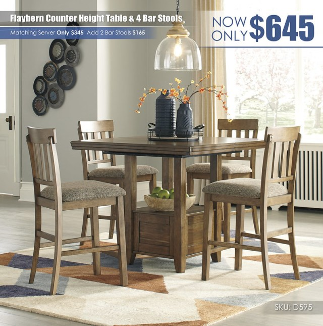 Flaybern Counter Height Table Set_D595-42-124(4)-R403531