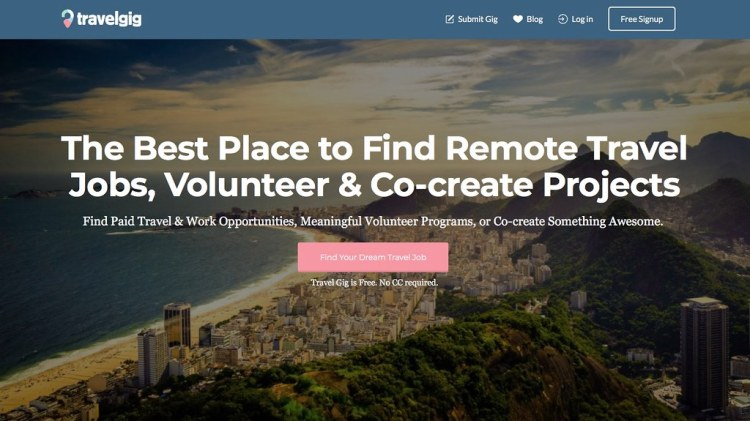 Find #travel Work At TravelGig