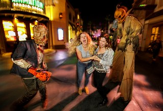 """Trick 'r Treat"" scare zone at Universal Studios Hollywood's ""Halloween Horror Nights"" 2018.."
