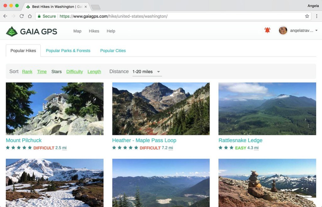 gaia gps hike search