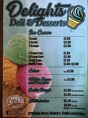 Delights Deli menu