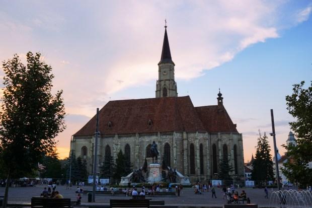 St. Michael's Church and Matthias Corvinus Monument, Cluj-Napoca
