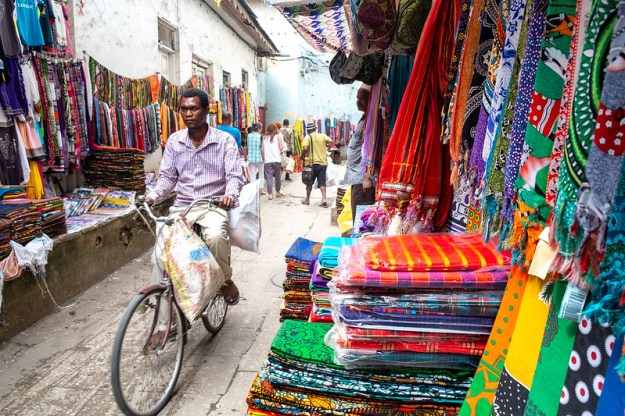 Fabric market. Stone Town