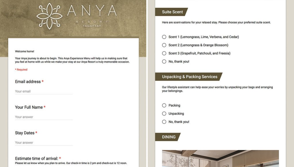 anya-experience-menu