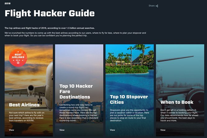 Kayak's 2018 Flight Hacker Guide