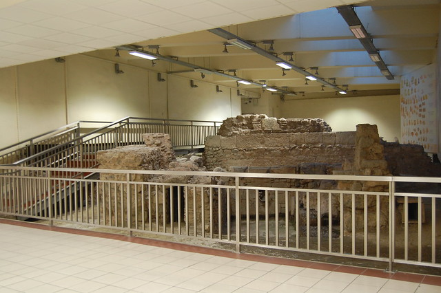 Metro staiton is at an archaeological site!