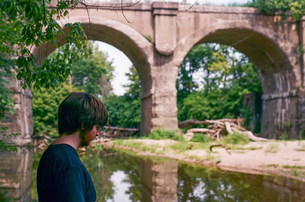 Garrett at the bridge