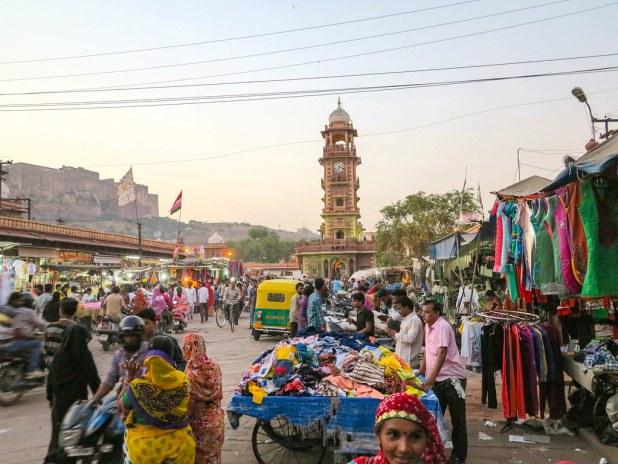 Mercado local en Jodhpur