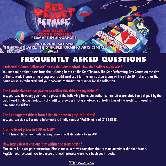 Red Velvet 'REDMARE' Concert in Singapore FAQ04