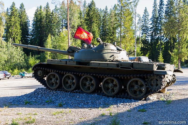 Танк Т-62 , Гора Филина, Лахденпохья, Карелия