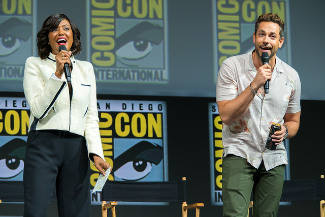 Aisha Tyler and Zachary Levi