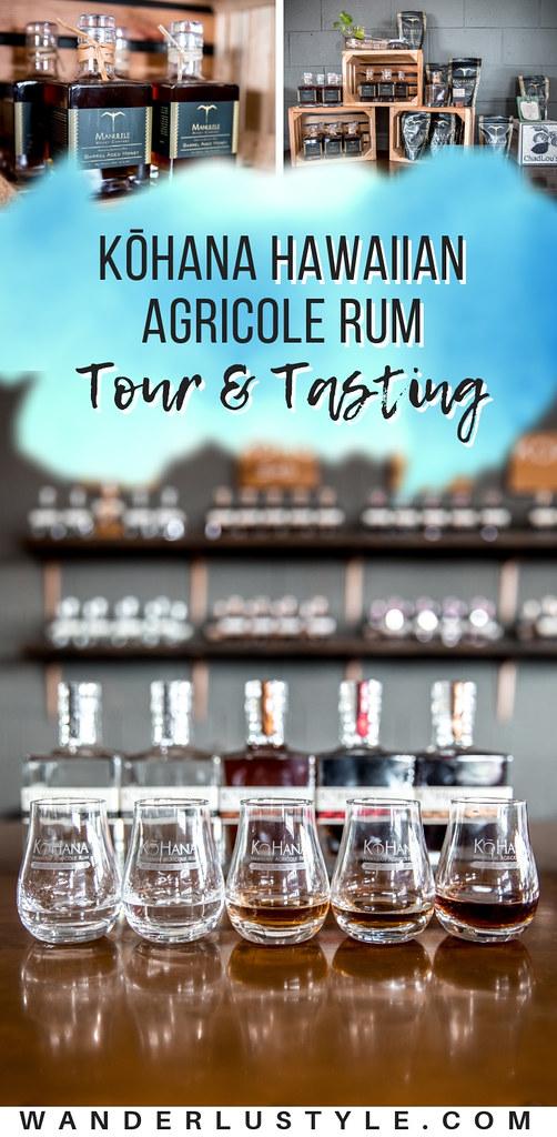 KōHana Hawaiian Agricole Rum Tour and Tasting - Hawaii Rum Tour | Wanderlustyle.com