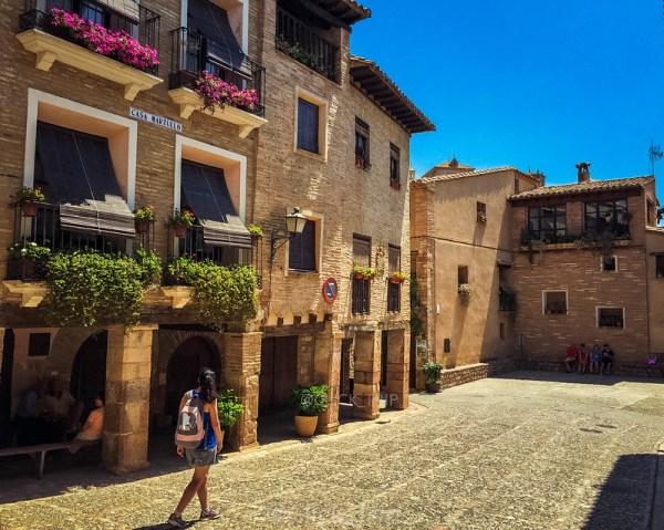 · Uno de los pueblos más bonitos de España · Alquézar · Pasarelas de Alquézar · Ruta pasarelas del rio Vero · Huesca · Aragón ·