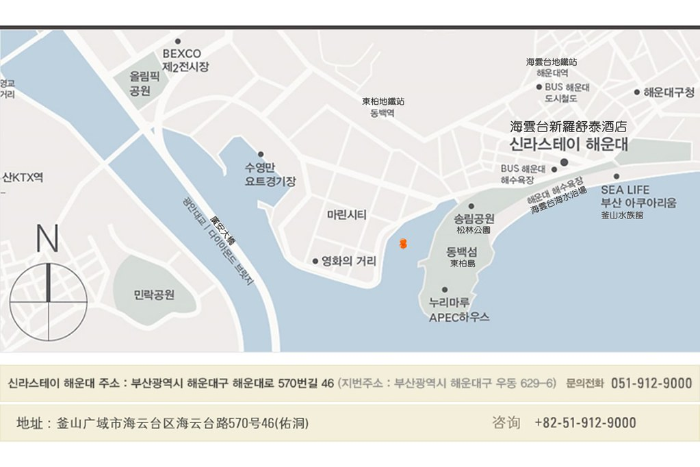 Shilla Stay Haeundae Busan Map 1
