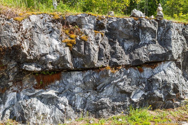 Мрамор Белой горы, горный парк Рускеала