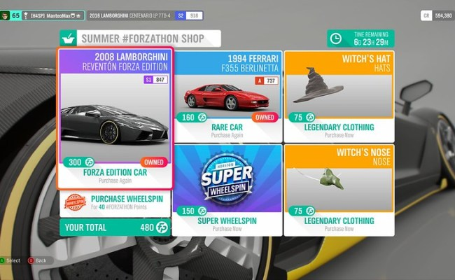 Summer Forzathon Shop Events And Cars Through November 1