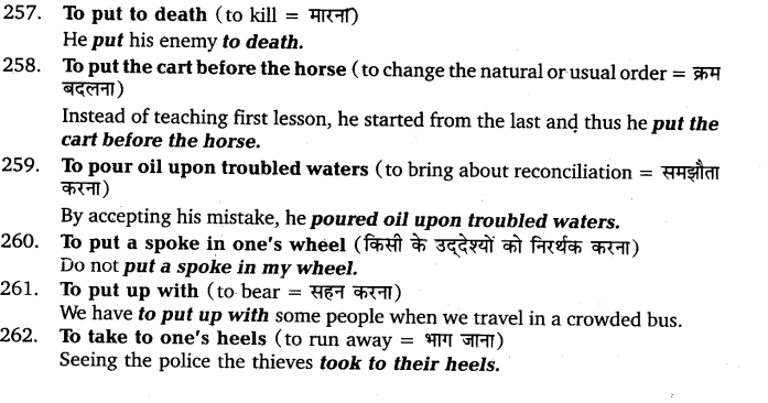UP Board Solutions for Class 11 English Vocabulary Chapter 9 Idioms and Phrases 36
