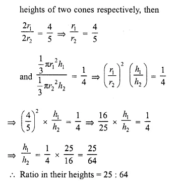RD Sharma Class 10 Solutions Chapter 14 Surface Areas and Volumes  VSAQS 8