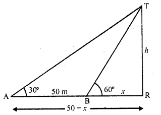 RD Sharma Class 10 Solutions Chapter 12 Heights and Distances Ex 12.1 - 10