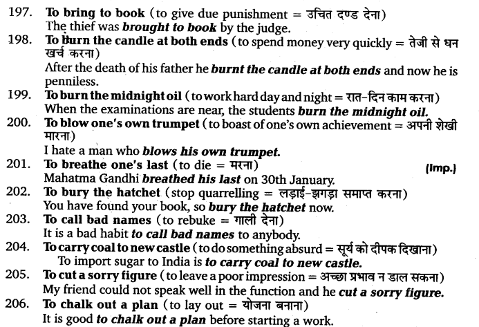 UP Board Solutions for Class 11 English Vocabulary Chapter 9 Idioms and Phrases 28