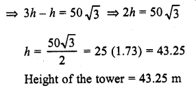 RD Sharma Class 10 Solutions Chapter 12 Heights and Distances Ex 12.1 - 10aa
