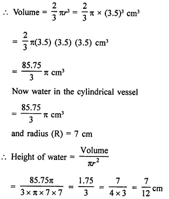 RD Sharma Class 9 Solutions Chapter 21 Surface Areas and Volume of a Sphere Ex 21.2 10