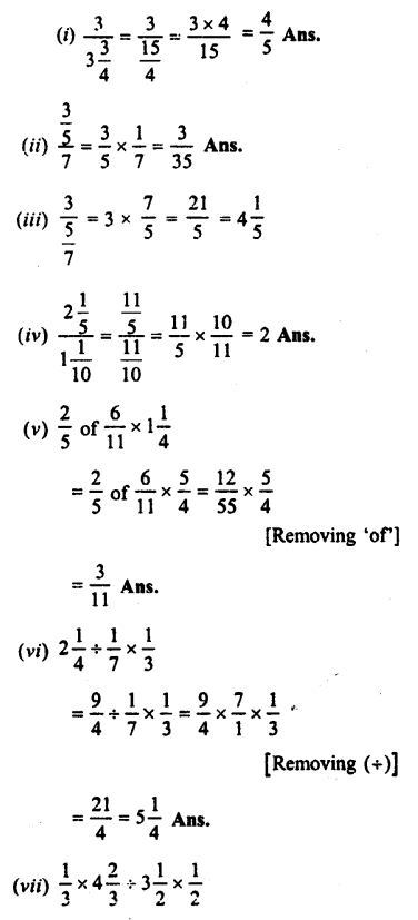 Selina Concise Maths class 7 ICSE Solutions - Fractions (Including Problems)-C5....