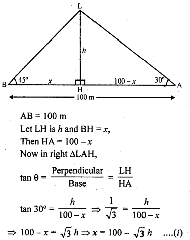 RD Sharma Class 10 Solutions Chapter 12 Heights and Distances Ex 12.1 - 54