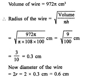 RD Sharma Class 9 Solutions Chapter 21 Surface Areas and Volume of a Sphere Ex 21.2 13a