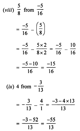 Selina Concise Mathematics class 7 ICSE Solutions - Rational Numbers-c6........