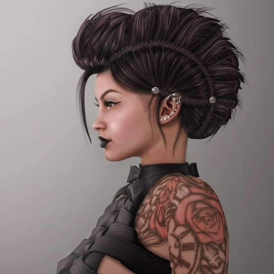 The Adoness Hair on the Second Life Marketplace Banner