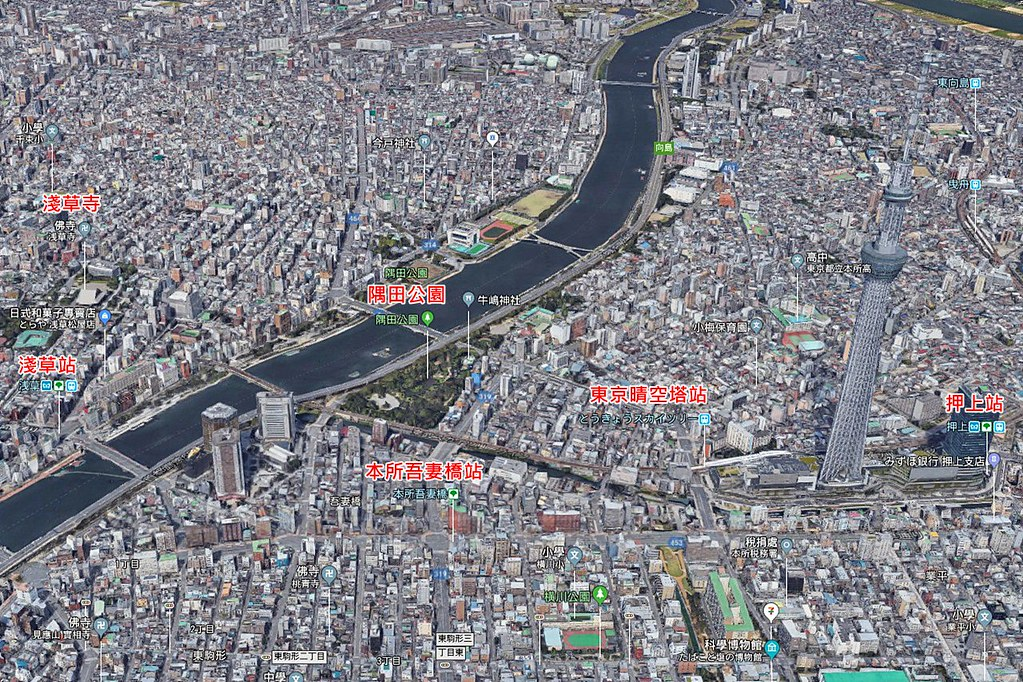 Tokyo Skytree Map