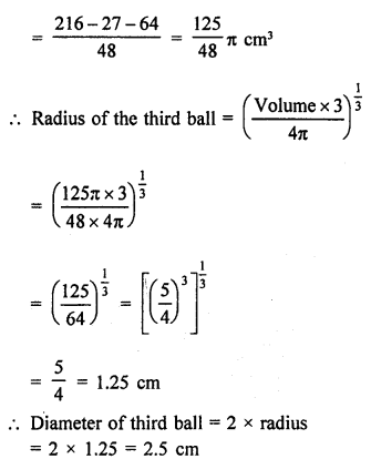 RD Sharma Class 9 Solutions Chapter 21 Surface Areas and Volume of a Sphere Ex 21.2 7b