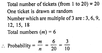 RD Sharma Class 10 Solutions Chapter 16 Probability VSAQS 10